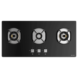 Faber 3 Burner Tufted Glass Built-in Gas Hob (Auto Ignition, Nexus HT803 CRS BR CI, Black)_1