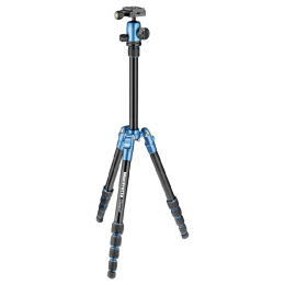 Manfrotto 127.5 cm Height Traveller Tripod Small with Ball Head (MKELES5BL-BH, Blue)_1