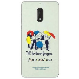 The Souled Store F.R.I.E.N.D.S - I'll Be There For You Polycarbonate Mobile Back Case Cover for Nokia 6 (72111, Black)_1