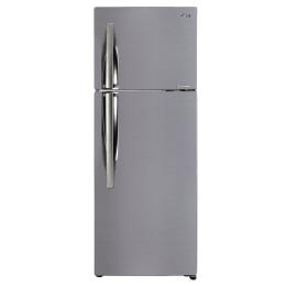 LG 284 L 3 Star Frost Free Double Door Inverter Refrigerator (GL-C302KPZY, Shiny Steel)_1