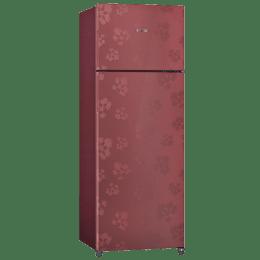Bosch 288 L 3 Star Frost Free Double Door Refrigerator (KDN30VV30I, Red)_1