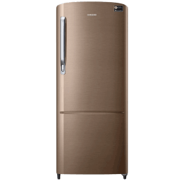 Samsung 212 L 4 Star Direct Cool Single Door Inverter Refrigerator (RR22R373YDU/HL, Luxe Gold)_1