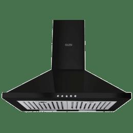 Glen Junior 1000 m³/hr 60cm Wall Mount Chimney (Push Button Control, CH6050DXBLK60BF, Black)_1
