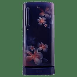 LG 235 L 5 Star Direct Cool Single Door Inverter Refrigerator (GL-D241ABPY, Blue Plumeria)_1