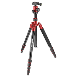 Manfrotto 164 cm Height Traveller Tripod Big with Ball Head (MKELEB5RD-BH, Red)_1