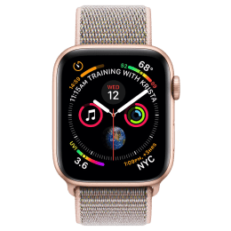 Apple Watch Series 4 (GPS) 4.4 cm Gold Aluminum Case with Pink Sand Sport Loop_1
