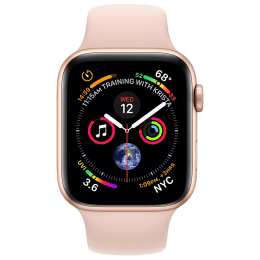 Apple Watch Series 4 (GPS) 4.4 cm Gold Aluminum Case with Pink Sand Sport Band_1