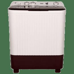Haier 7.2 kg Semi Automatic Top Loading Washing Machine (HTW72-187BT, Grey)_1