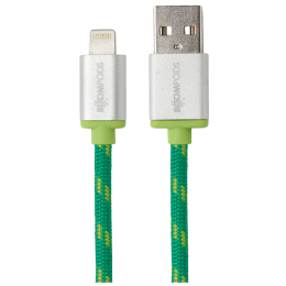 Boompods Retro Armour 200 cm USB (Type-A) to Lightning Cable (BP-RC2M-ORG, Green)_1