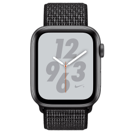 Apple Watch Series 4 (GPS + Cellular, 40 mm) Nike + Space Gray Aluminum Case with Black Nike Sport Loop (MTXH2HN/A)_1