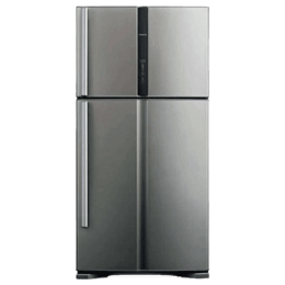 Hitachi Big2 565 Litres 2 Star Frost Free Inverter Double Door Refrigerator (Power Cool Pocket, R-VG610PND7 -(GGR), Glass Grey)_1