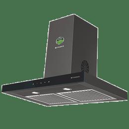 Faber Stilus 3D 1095m³/hr 90cm Wall Mount Chimney (Baffle Filter, T2S2 BK TC LTW 90, Black)_1