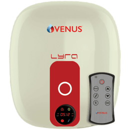 Venus Lyra Digital 10 Litres 5 Star Storage Water Geyser (2000 Watts, 10RD, Ivory/Red)_1