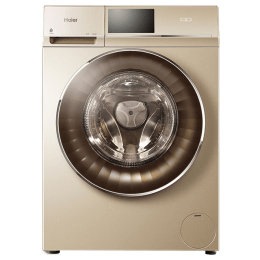 Haier 10/5 kg Fully Automatic Front Loading Washing Machine (HW100-HD15G, Gold)_1