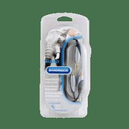 Bandridge 200 cm 3RCA Audio Video Component Cable (Grey/Black)_1
