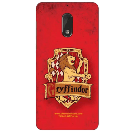 The Souled Store Harry Potter - Gryffindor Sigil Polycarbonate Mobile Back Case Cover for Nokia 6 (72153, Red)_1