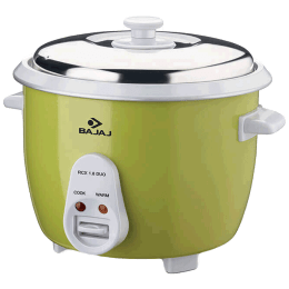 Bajaj 1.8 Litres Electric Rice Cooker (RCX 1.8 Duo, Lime Green)_1