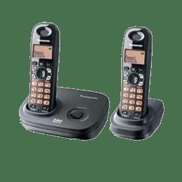 Panasonic Duo Cordless Phone (KX-TG4312BX, Black)_1