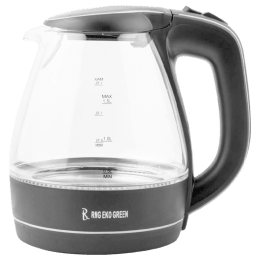 RNG Eko Green 1.5 Litres 2200 Watts Electric Kettle (Detachable Base, Auto Switch Off, RNG 1519, Black)_1