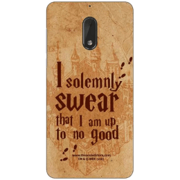 The Souled Store Harry Potter - Mischief Managed Polycarbonate Mobile Back Case Cover for Nokia 6 (72156, Wooden Brown)_1