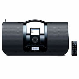 iLuv Portable Audio System with Radio and Dock for iPod (i552, Black)_1