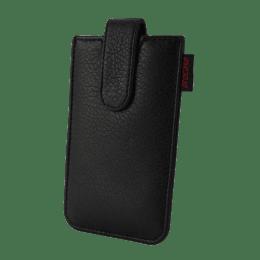 Procase Slider PU Leather Case for Extra Large Mobile Phones (Black)_1