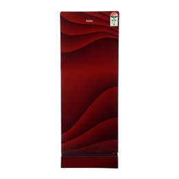Haier 220 L 4 Star Direct Cool Single Door Refrigerator (HRD-2204PWG-E, Red)_1