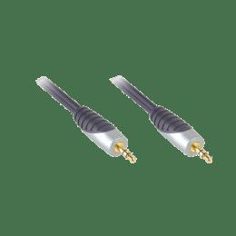 Bandridge 100 cm 3.5mm Stereo Audio Cable (1MSAL3301, Black)_1