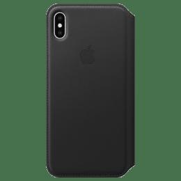 Apple iPhone XS Max PU Leather Flip Case Cover (MRX22ZM/A, Black)_1