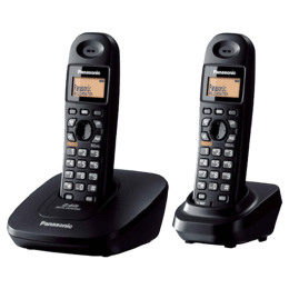 Panasonic Duo Cordless Phone (TG3612BX, Black)_1