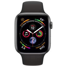 Apple Watch Series 4 (GPS) 4.4 cm Space Gray Aluminum Case with Black Sport Band_1