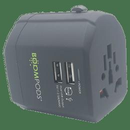 Boompods Globe Travel Adapter (BP-GLB-TA-BLK, Black)_1