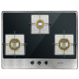Faber Fusion 3 Burner Stainless Steel Built-in Hob (Auto Ignition, 723 CRX BR CI, Black/Silver)_1