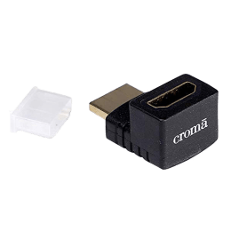 Croma XN4075 90 Degree HDMI (Type-A) to HDMI (Type-A) Cable (W1453, Black)_1
