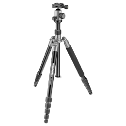 Manfrotto 164 cm Height Traveller Tripod Big with Ball Head (MKELEB5GY-BH, Grey)_1