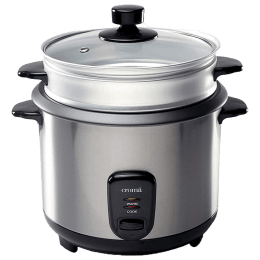 Croma 1.2 Litres Rice Cooker (CRAO1028, Silver)_1