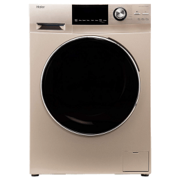 Haier 7.5 kg Fully Automatic Front Loading Washing Machine (HW75-BD12756NZP, Gold)_1