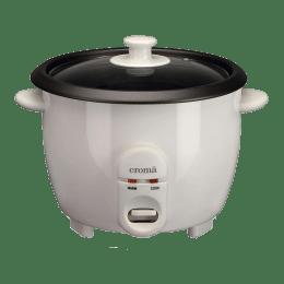 Croma 1 Litre 400 Watt Rice Cooker (CRAO1027, White)_1
