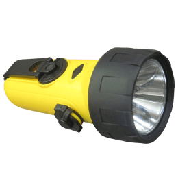 Croma Rechargeable LED/USB Torch (Yellow/Black)_1