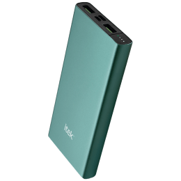 Itek 10000mAh 3-Port Power Bank (Li-ion Battery, RBB054_GN, Green)_1