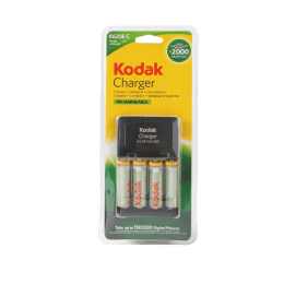 Kodak Camera Battery Charger with 4 Batteries (K620c, Black)_1