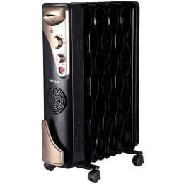 Havells 2400 Watts Tubular and PTC Oil Filled Fan Room Heater (Thermostatic Heat Control, GHROFBFK240, Black)_1
