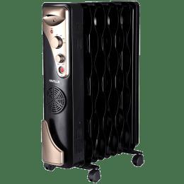 Havells 2400 Watts Tubular and PTC Oil Filled Fan Room Heater (Thermostatic Heat Control, GHROFBFK240, Black)_1