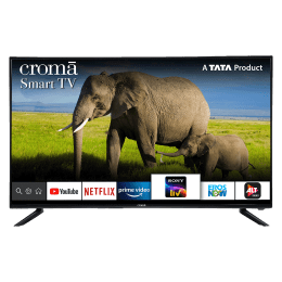 Croma 124.4cm (49 Inch) 4K Ultra HD LED Smart TV (Dual Box Speakers, EL7346, Black)_1
