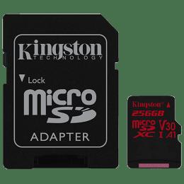 Kingston Canvas React 256GB Class 10 UHS-I Micro SDXC Card (100 MB/s Read Speed, SDCR/256GBIN, Black)_1