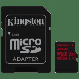 Kingston Canvas React 32GB Class 10 Micro SD Memory Card (SDCR/32GBIN, Black)_1