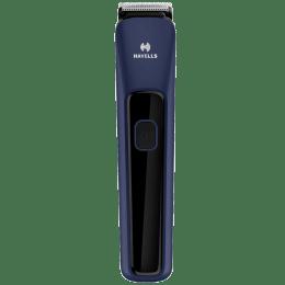 Havells Stainless Steel Blades Cordless Beard Trimmer (LED Battery Indicator, BT5112, Blue)_1
