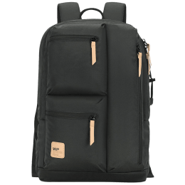VIP Trot 02 19 Litres Polyester Casual Backpack (3 Front Pockets, BPTRO02RSN, Rosin)_1