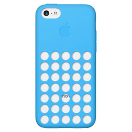 Apple iPhone 5C Silicone Back Case Cover (MF035ZM/A, Blue)_1