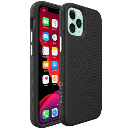 Stuffcool Spike PC and TPU Back Case For iPhone 12 Mini (Integrated Knobs Buttons, iPhone 12 5.4, Black)_1
